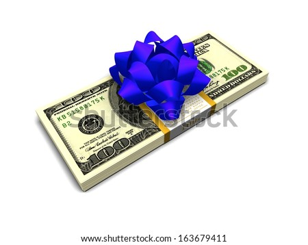 $10,000 cash stack  Money Stocking Stuffers. Stack of