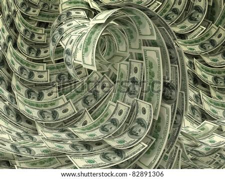 Money storm - stock photo