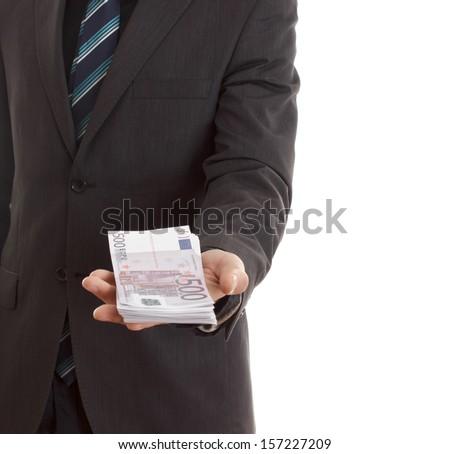 Money talk - stock photo