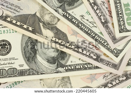 Money texture background