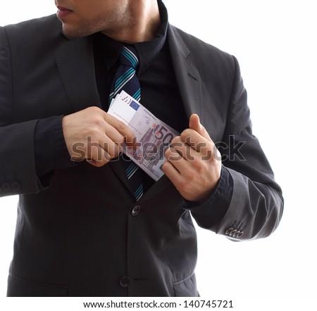 Money thief - stock photo