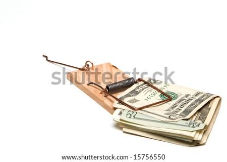 Money Trap - stock photo