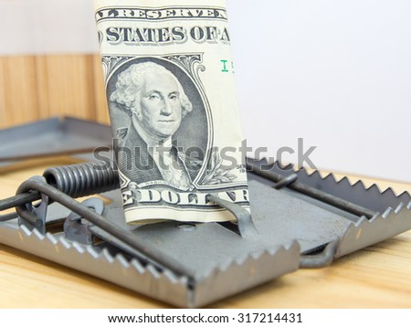 money trap. Business trap concept - stock photo