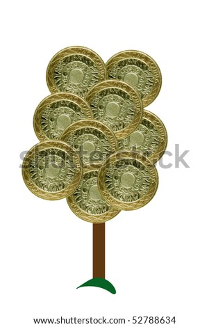 Money tree -  sterling - stock photo