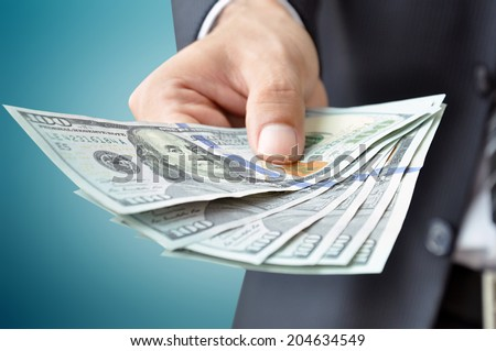 Money - United states dollar banknotes (USD) - stock photo