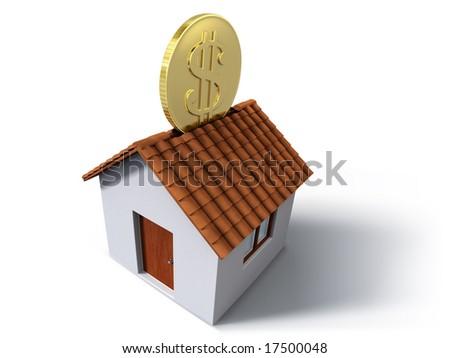 Moneybox house - stock photo