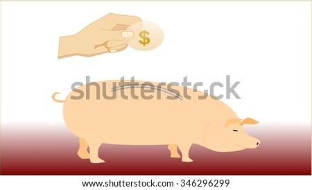Moneybox Piggy bank to put the money