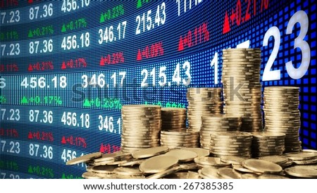 Moneyed, money, bank. - stock photo