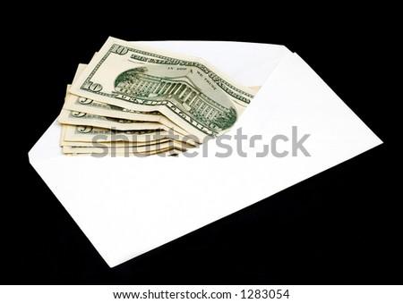 moneys in envelope - stock photo