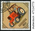MONGOLIA - CIRCA 1982: Old tractor. Belarus-611 USSR, circa 1982. - stock photo
