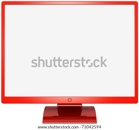 Flat Screen Tv Coloring Page Monitor Computer Device