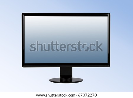 Monitor. Includes clipping path for monitor outline and screen. - stock photo