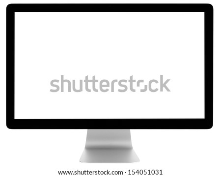 Monitor isolated on white background - stock photo