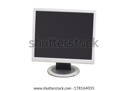 Monitor isolated under the white background