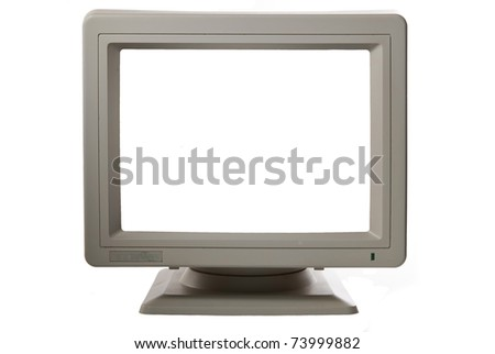 monitor isolated with copyspace
