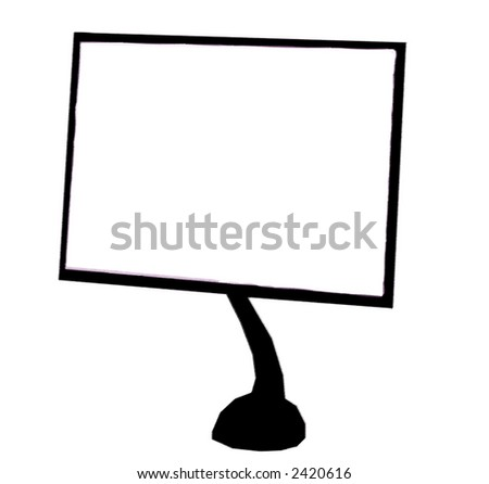 monitor of a computer illustration in a white background