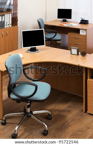 monitor on a desks in a modern office - stock photo