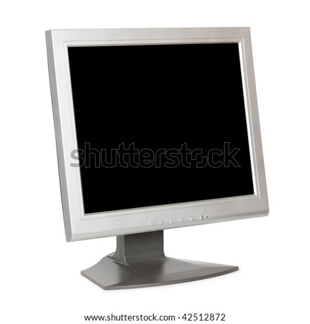 Monitor on a white background - stock photo