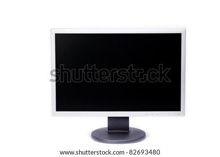 monitor on white background, display,
