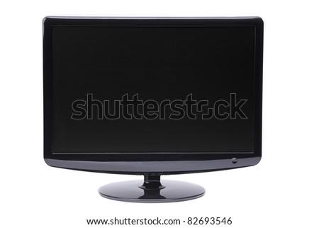 monitor on white background, display, - stock photo