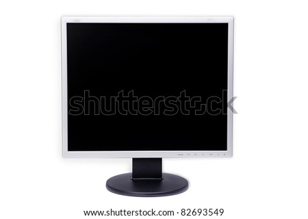 monitor on white background, display, - stock photo