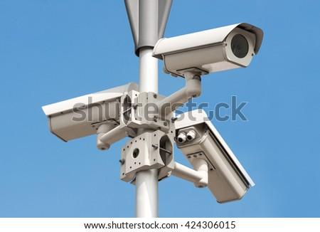 monitoring camera - stock photo