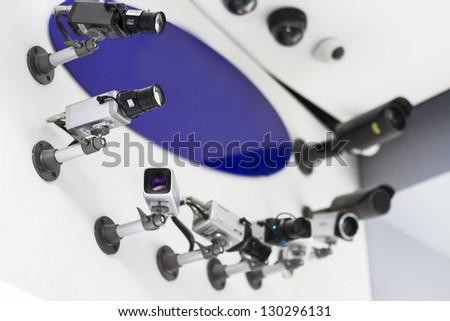 Monitoring Cameras - stock photo
