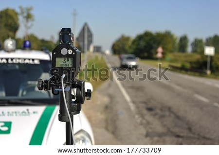 monitoring police Safety Camera - stock photo