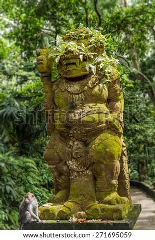 Monkey Forest, Ubud, Bali - stock photo