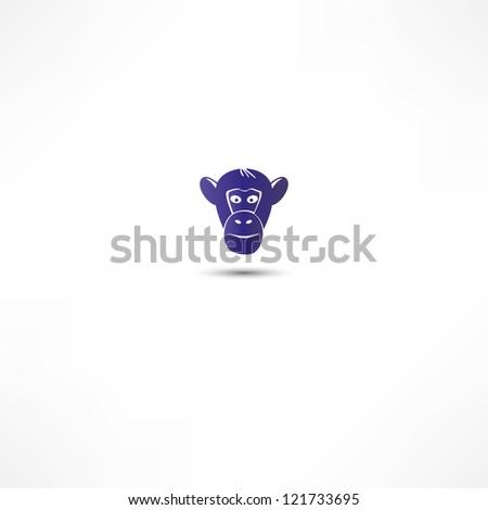 Monkey Icon - stock photo
