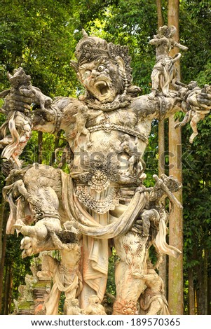 Monkey King Statue in Sangeh, Bali, Indonesia - stock photo