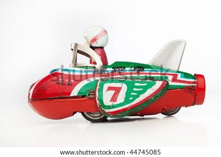 monkey racer antique toy - stock photo