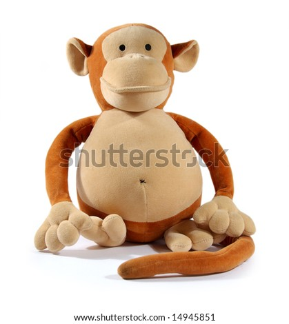 Monkey Toy Animal - stock photo