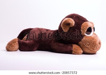 monkey toy  full body isolated on white background - stock photo