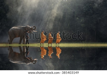 Monks elephant