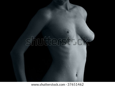 mono-color female torso for medical use - stock photo