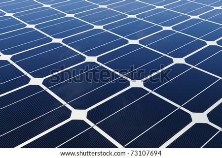 mono-crystalline solar cells - stock photo