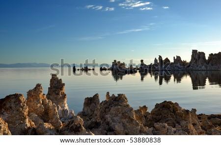 Mono Lake at Sunrise. - stock photo