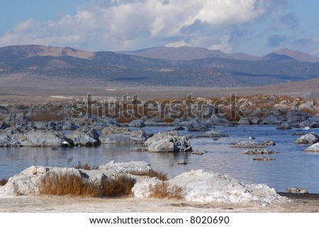 Mono Lake California   Under Cloudy skies