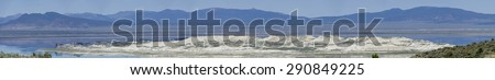 Mono Lake Panorama - stock photo