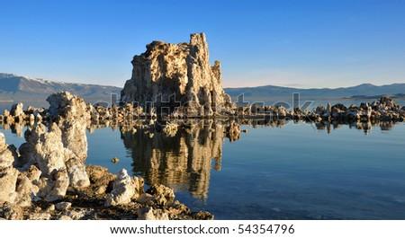 Mono Lake Shortly After Sunrise. - stock photo