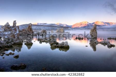 Mono Lake Sunrise 1 - stock photo