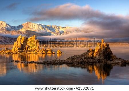 Mono Lake Sunrise 4 - stock photo