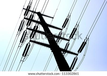 Mono pole Transmission Line Tower. - stock photo