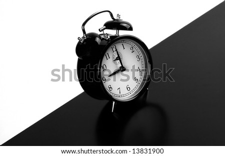 monochrome alarm clock