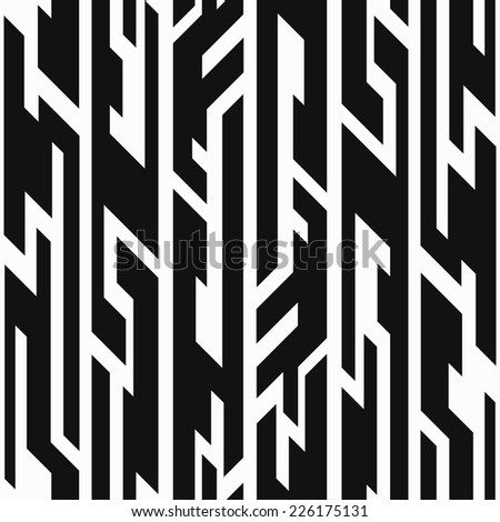 monochrome aztec geometric seamless pattern (raster version)