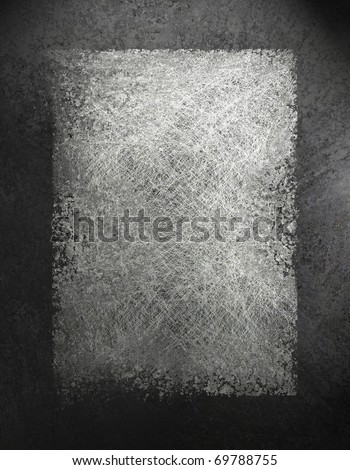 monochrome black, white, and gray grunge textured background with darker frame border, had copy space for text, title, image - stock photo
