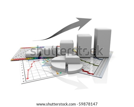 monochrome business graphic, chart, diagram, bar оÑ? a white background