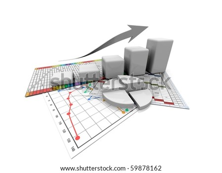 monochrome business graphic, chart, diagram, bar оÑ? a white background - stock photo