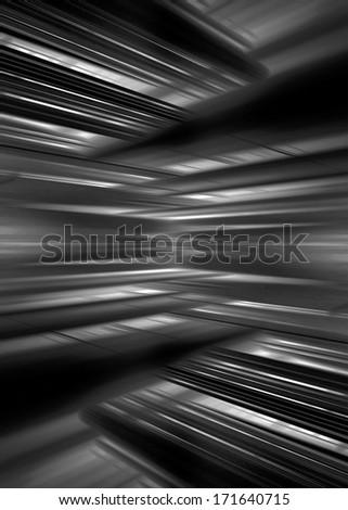Monochrome futuristic blur lines background - stock photo